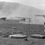 6 agosto 1941. Atterra il 160° Gruppo Foto: Ass. 4° Stormo Gorizia
