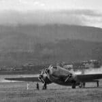 9 agosto 1941. Decollo del 160° Gruppo per Castelbenito - Foto: Ass. 4° Stormo Gorizia